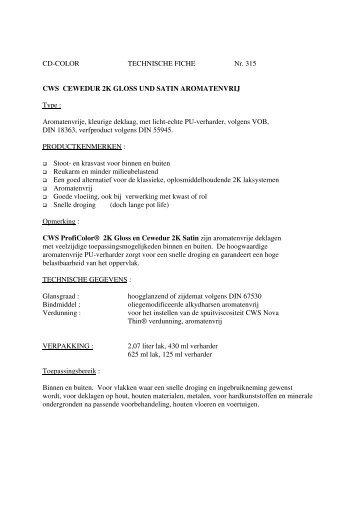 Technische Fiche - CD-Color GmbH & Co.KG