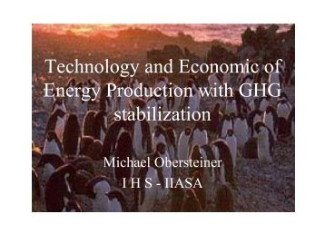 Technology and Economics of Energy Production with ... - Eprida