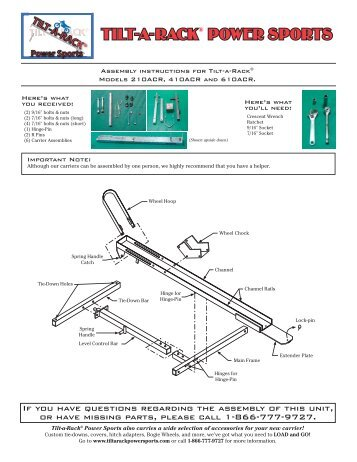 assembly instructions 210acr/410acr/610acr - The Carrier and Lift ...