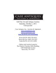 Fall Fine Art and Antique Auction Saturday, October ... - Case Antiques