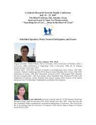 Speaker Bios - Cystinosis Research Network
