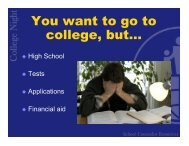 You want to go to college, but… - John Hersey High School