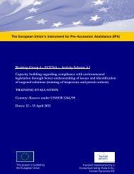 Common Inspection Training Report Kosovo (UNHCR1244 ... - RENA