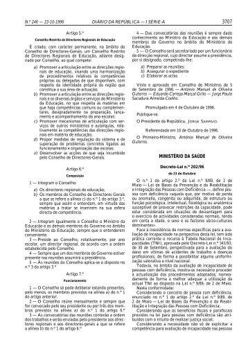 Decreto-Lei n.º 202/96, de 23 de Outubro