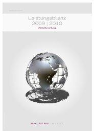 Leistungsbilanz 2009-2010 [4 MB] - Wölbern Invest