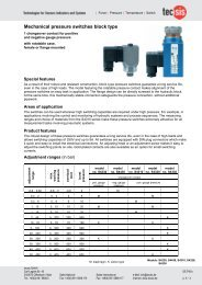 Mechanical pressure switches block type