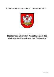 Reglement über den Anschluss an das elektrische ... - Langendorf
