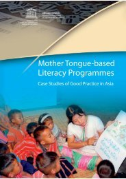 Mother Tongue-based Literacy Programmes: Case Studies of Good ...