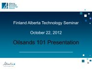 Oil Sand business, the opportunity for Finnish technology companies