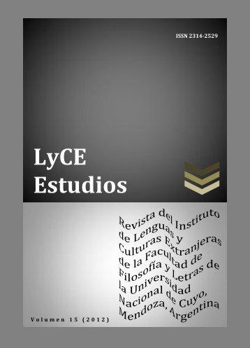 o guardar revista - Facultad de Filosofía y Letras - Universidad ...