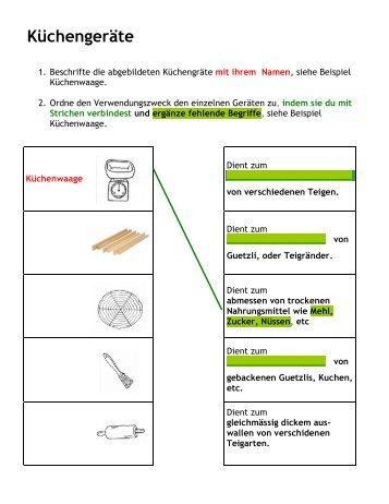 Arbeitsblatt Küchengeräte Niveau 2.pdf