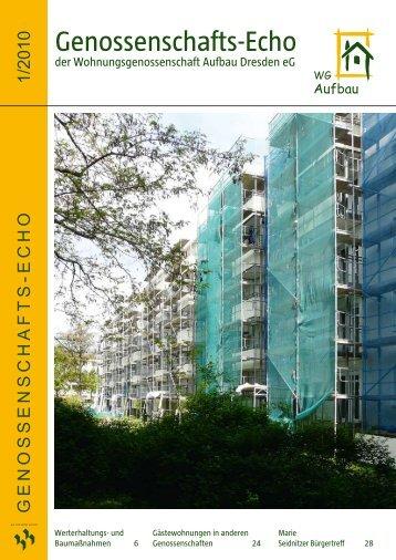 Genossenschafts-Echo - Wohnungsgenossenschaft Aufbau ...