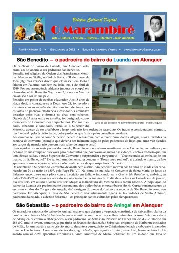 Boletim Cultural Digital - O Marambiré - Ano II ... - Vitrinereal.com
