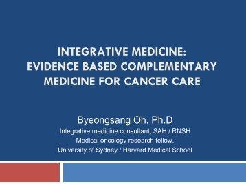 integrative medicine - Sydney Adventist Hospital