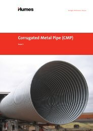 Corrugated Metal Pipe (CMP) brochure - Humes