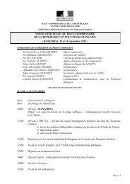 Programme public Visite officielle HC Rangiroa -13 et 14 sept 2012