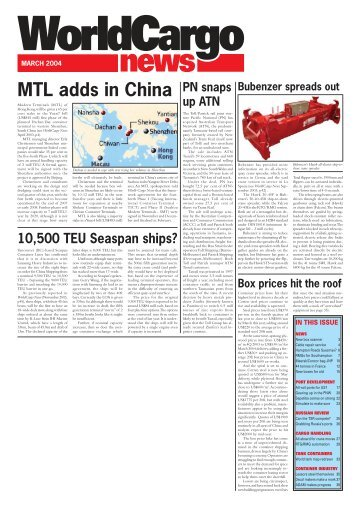WCN March Front Page - WorldCargo News Online
