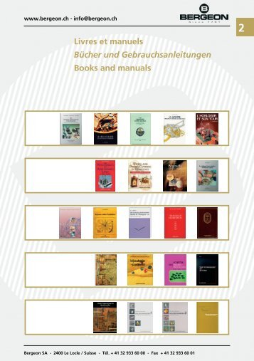 Livres et manuels Bücher und Gebrauchsanleitungen ... - Bergeon SA