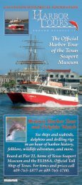 The Official Harbor Tour of the Texas Seaport Museum ... - Galveston