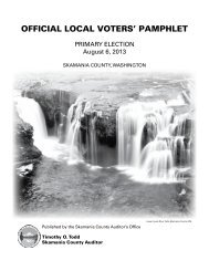 OFFICIAL LOCAL VOTERS' PAMPHLET