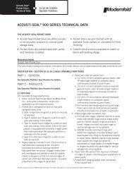 ACOUSTI-SEAL® 900 SERIES TECHNICAL DATA - Modern Door ...