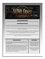 Primer Mission Packet – Rules And Codices - NOVA Open