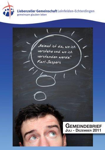 GEMEINDEBRIEF - Liebenzeller Gemeinschaft Leinfelden