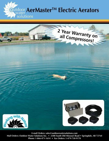 Electric Aeration Catalog - Outdoor Water Solutions