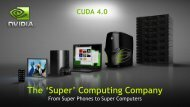 CUDA Toolkit 4.0 Overview - Nvidia