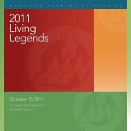 2011 Living Legends - American Academy of Nursing