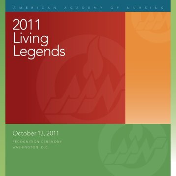 2011 Living Legends - American Academy of Nursing