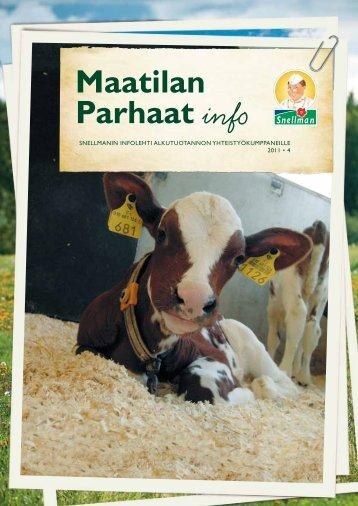 Maatilan Parhaat info 4 / 2011 - Snellman