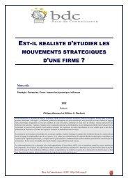 Est il réaliste d étudier les mouvements strategiques d'une firme ?