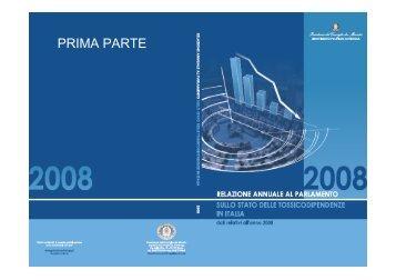 Sintesi Relazione Parlamento 2008 - Dipartimento per le politiche ...
