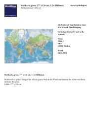 Weltkarte, gross, 177 x 126 cm, 1: 24 Millionen