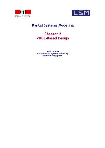 Digital Systems Modeling Chapter 2 VHDL-Based Design - index