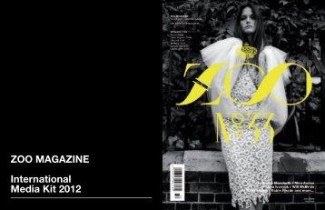 ZOO MAGAZINE International Media Kit 2012 - wolfram werbung