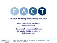 Finance, Auditing, Controlling, Taxation - Studiengang ...