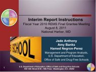 Interim Report Instructions - Readiness and Emergency ...