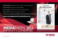 MEDIADATEN 2011 - Management-Krankenhaus.de
