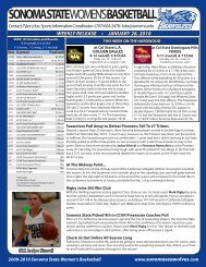 weekly release • january 26, 2010 - Sonoma State University Athletics