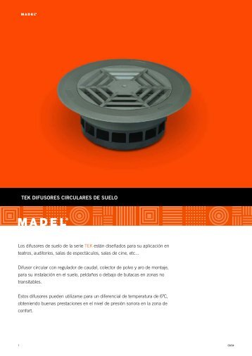 TEK DIFUSORES CIRCULARES DE SUELO - Madel
