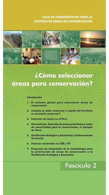 Fascículo 2: ¿Cómo seleccionar áreas para conservación? - PDRS