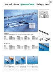 381 Linero Ø 16 mm Relingsystem