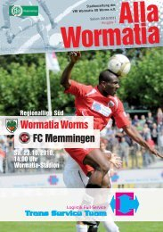 23.10.2010 FC Memmingen - Wormatia Worms