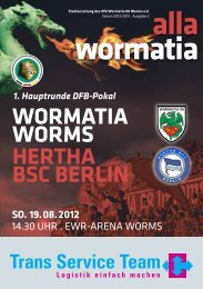 19.08.2012 Hertha BSC - Wormatia Worms