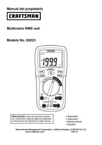Manual del propietario Multímetro RMS real Modelo ... - MeterSupport