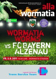 Wormatia Worms vs FCBayern Alzenau