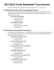 2011/2012 Youth Basketball Tournaments - City of Waterville