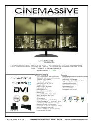 CineView Product Spec Sheet - Video Wall